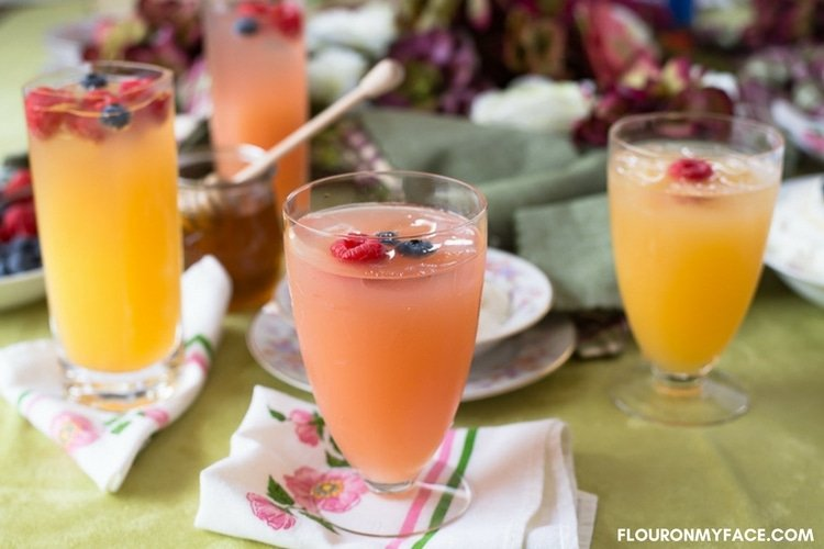 Rose flavored Mimosa recipe made with rose syrup, Rose Moscato Champagne and orange juice.
