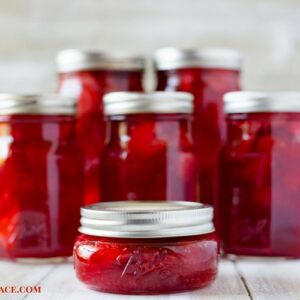 Homemade canned strawberry pie filling recipe using fresh Florida Strawberries
