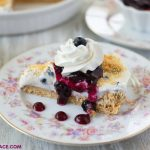 a serving of No-Bake Blueberry Cheesecake Pie