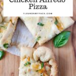Crock Pot Chicken Alfredo recipe made with homemade basil alfredo sauce and Pillsbury Pizza Dough
