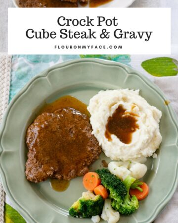 Comfort food Crock Pot Cube Steak with gravy recipe