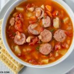 This crock pot soup recipe is the best. Crock Pot Kielbasa Soup is packed full of flavors
