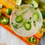 Jalapeno Margarita recipe with thyme simple syrup