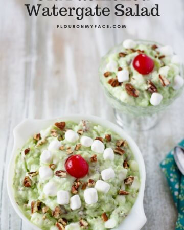 Old Fashioned Watergate Salad recipe is the perfect fluffy green dessert recipe from your grandmother