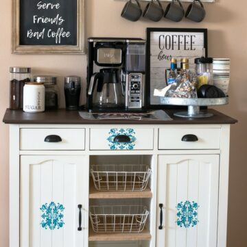 How to set up a coffee bar station at home.