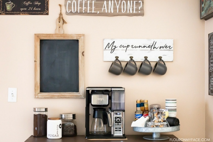 How To Make A DIY Coffee Bar at home.