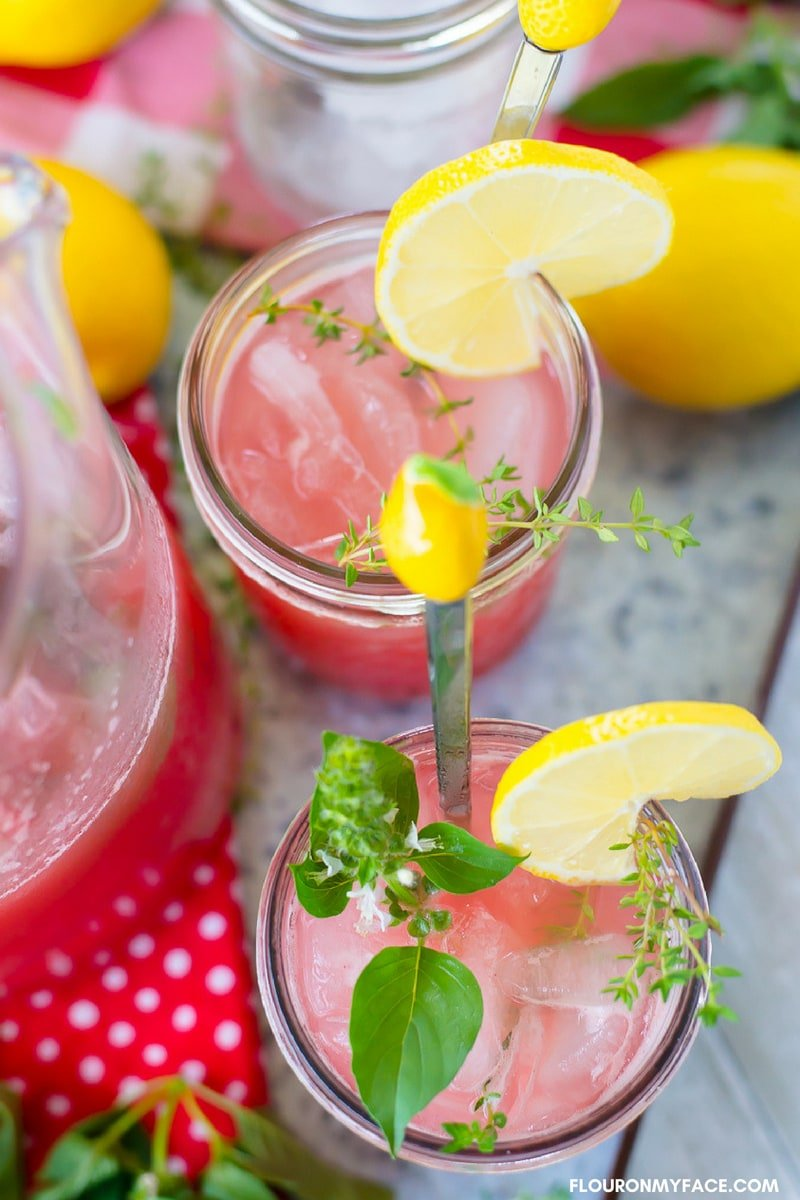 One the best ways to use fresh herbals is to make herbal simple syrup and use it to flavor lemonade and iced tea during the hot summer months.