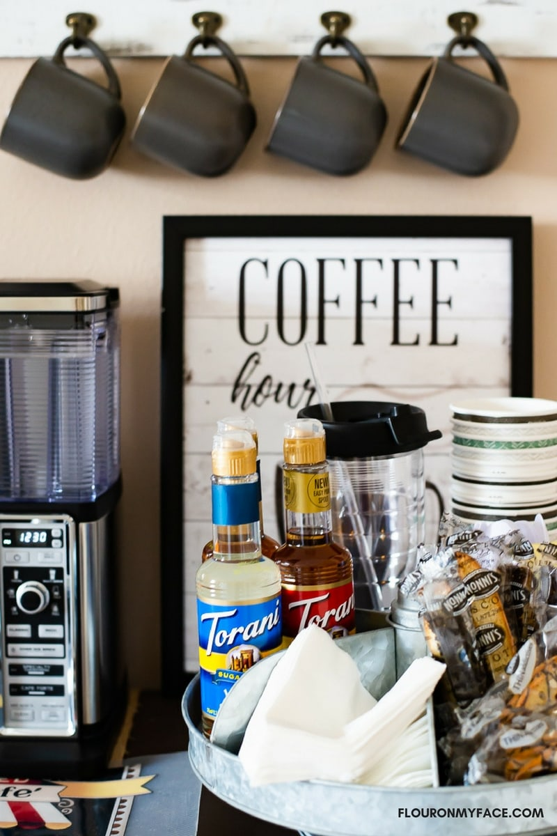 How To Make A Diy Coffee Bar At Home Flour On My Face