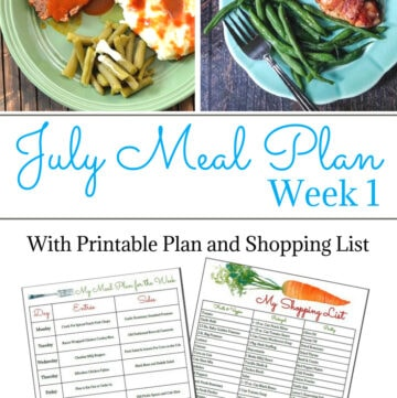 Flour On My Face July Weekly Meal Plan 1