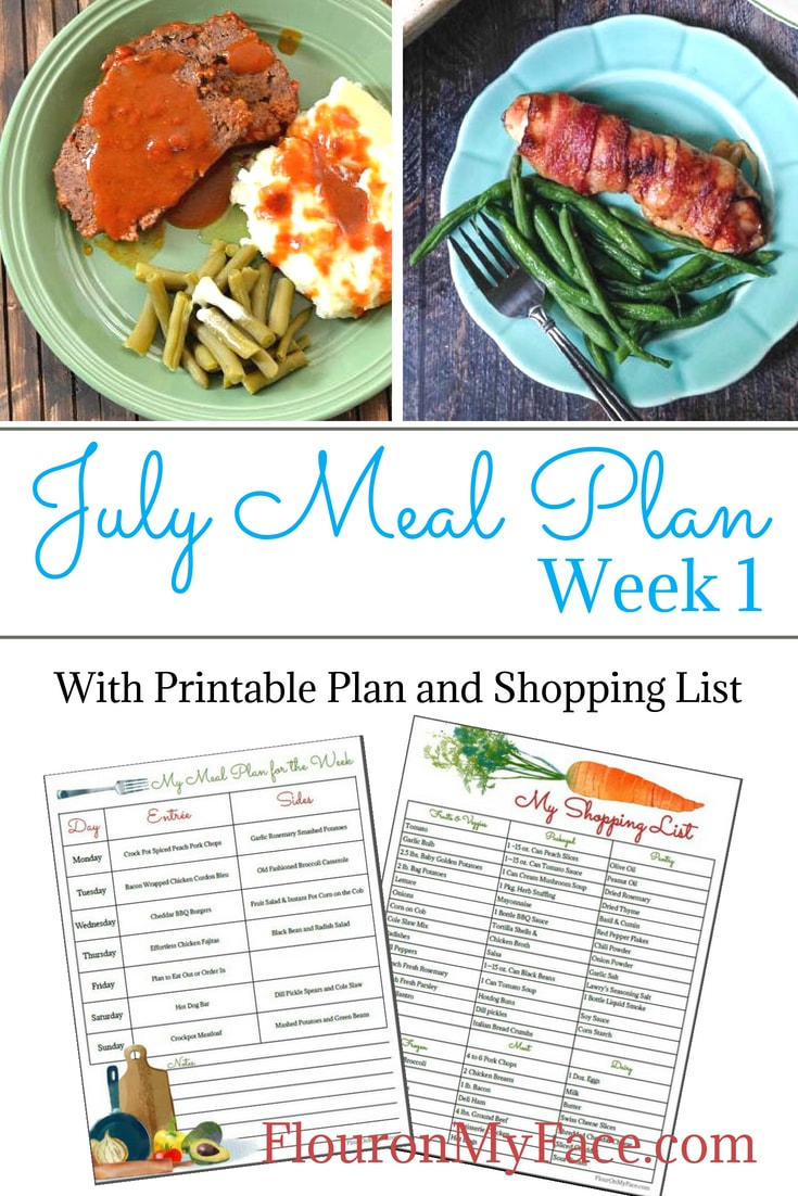 Flour On My Face July Weekly Meal Plan Week 1