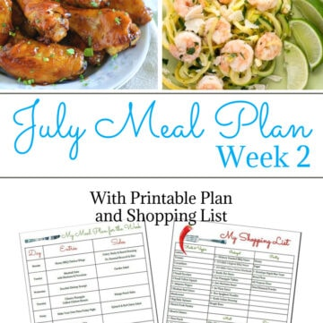 Flour On My Face July Weekly Meal Plan 2. Starting a meal plan is easy to do. You just have to get into the habit.