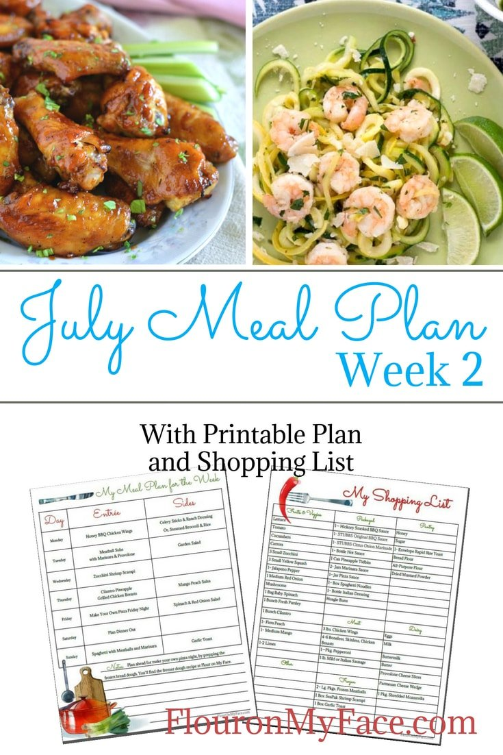 Flour On My Face July Meal Plan Week 2. Starting a meal plan is easy to do. You just have to get into the habit.