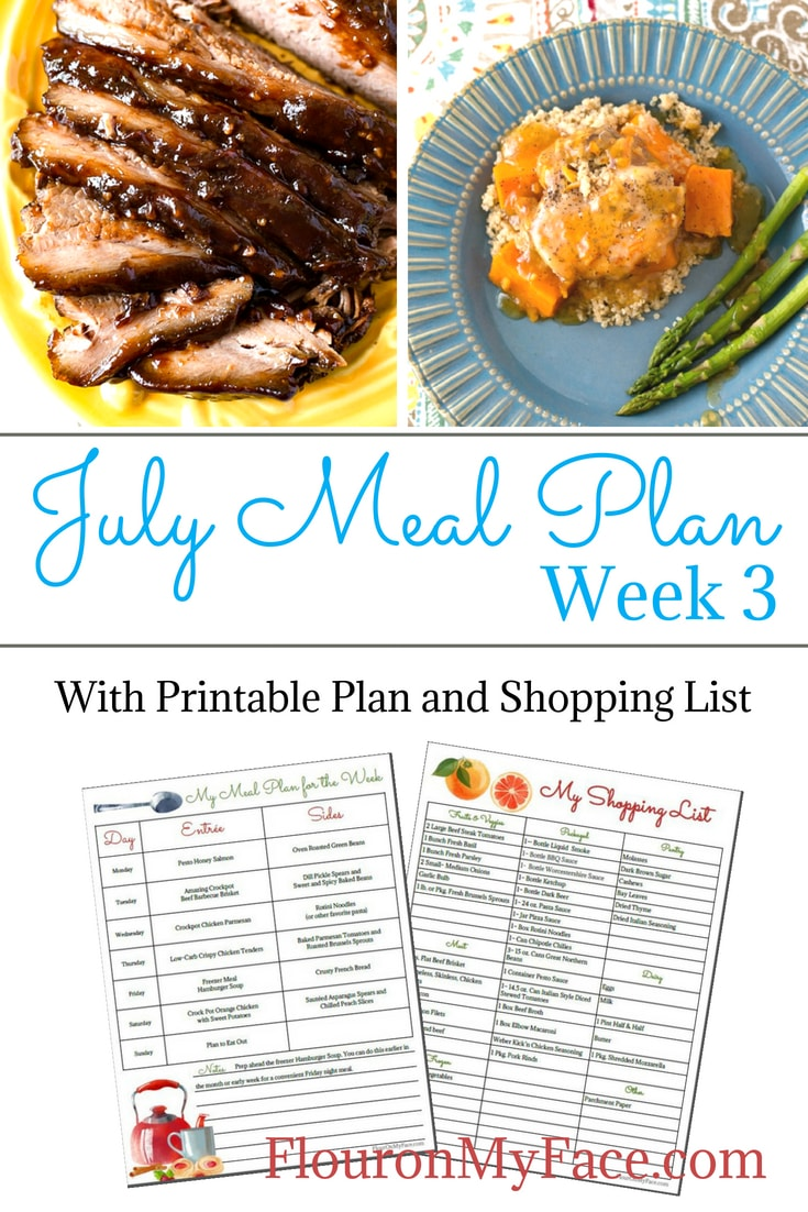 July Weekly Meal Plan 3 is packed full of easy recipes for your menu planning.