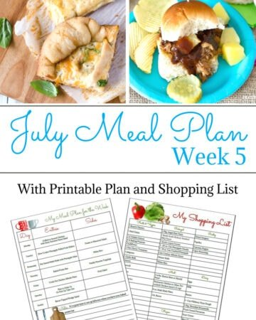 Flour On My Face July Weekly Meal Plan 5