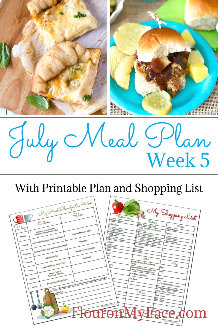 Flour On My Face July Meal Plan 5