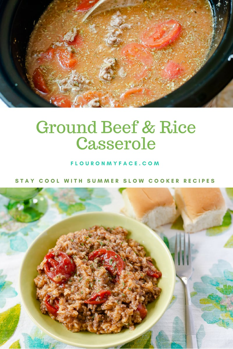 Ground Beef and Rice Crock Pot recipe