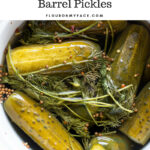 How to make old fashioned Kosher Dill Barrel Pickles: Fermenting kosher ill pickles in a ceramic crock