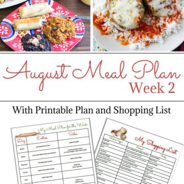 Flour On My Face Weekly Meal Plan 7 with free printable shopping list and weekly meal plan menu. BONUS! Free Blank Meal Planning Printable Template and Shopping List.