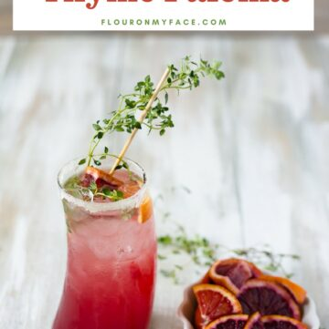 Blood Orange Thyme Paloma Cocktail Recipe