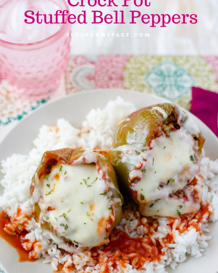 Featured Image for Crock Pot Stuffed Bell Peppers recipe