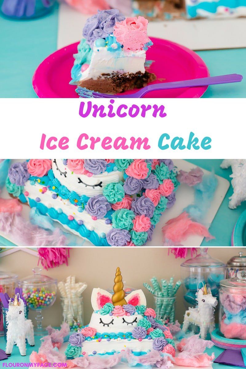 How To Make a Unicorn Ice Cream Cake