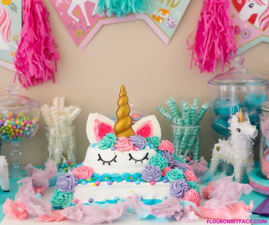 DIY Unicorn Ice Cream Cake