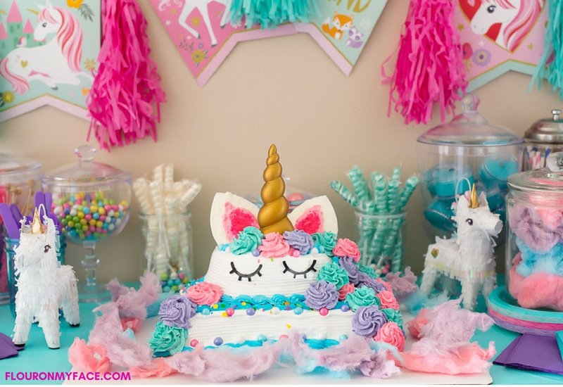 How To Make a Unicorn Ice Cream Cake DIY recipe