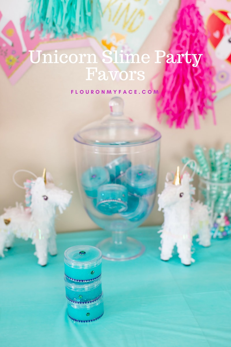How to make Unicorn Slime Party Favors