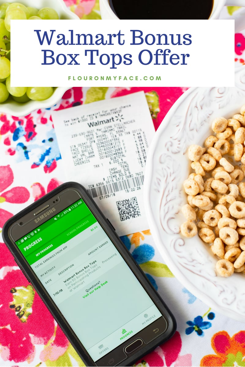 Earn bonus Box Tops when you shop at Walmart for #BTS and use the Box Tops for Education App
