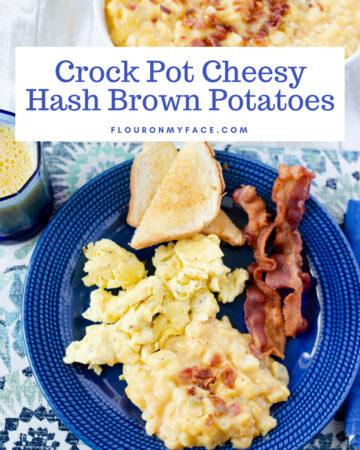 Crock Pot Cheesy Hash Brown Potatoes recipe