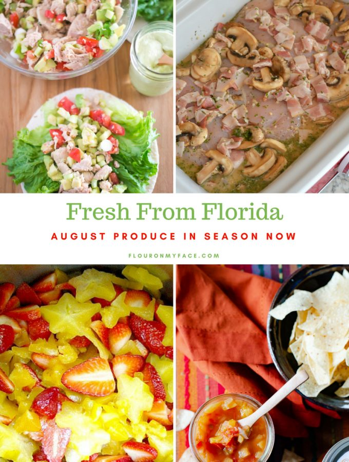 Fresh From Florida August Produce in season now with recipes to use your favorite Florida produce.