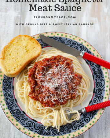 Homemade Spaghetti Meat Sauce recipe made in the crock pot.