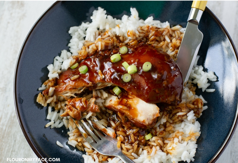 Honey Garlic Chicken recipe for the slow cooker.