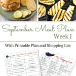 Flour On My Face Weekly Meal Plan 10 Sept Week 1