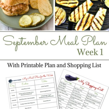 Flour On My Face Weekly Meal Plan 10 for the 1 st week of September menu planning. Download and print the free weekly meal plan printable