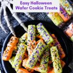 No Bake Easy Halloween Wafer Cookie Treats