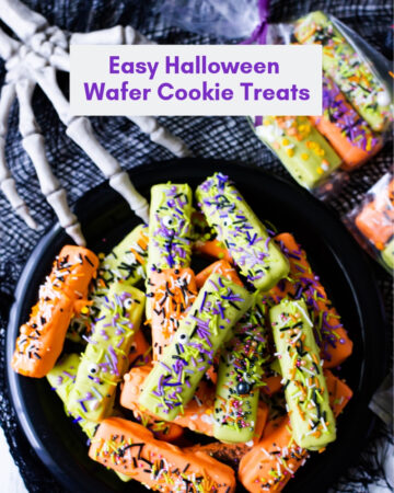 No Bake Easy Halloween Wafer Cookie Treats