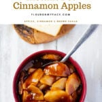 Instant Pot Cinnamon Apples with a Thick Brown Sugar Glaze