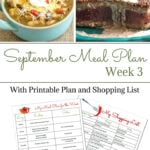Flour On My Face Weekly Meal Plan 12 for the 3rd week of September