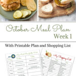 Weekly Meal Plan 14 for October with FREE Printables