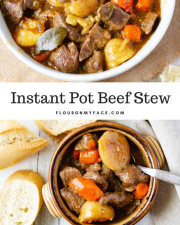 A heaping bowl of Instant Pot Beef Stew