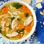 a bowl of Homemade Chicken Noodle Soup made in the Instant Pot