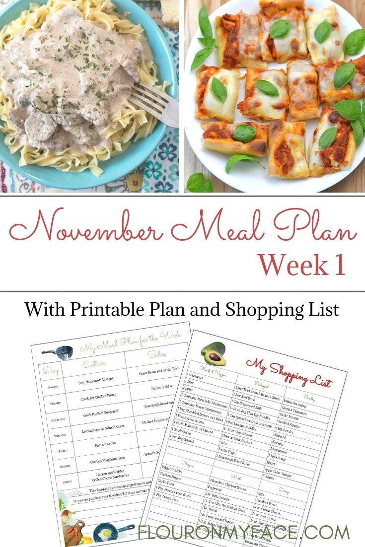November Weekly Meal Plan week 1