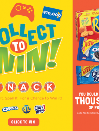 Walmart Collect To Win with Nabisco snack products.