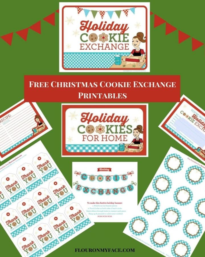 Christmas Cookie Exchange Printables preview