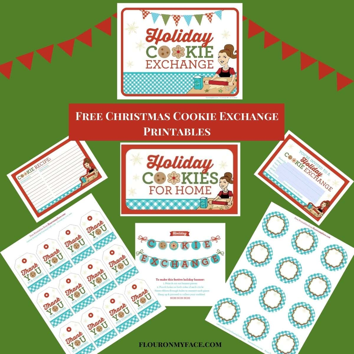 Free Christmas Cookie Exchange Printables Flour On My Face