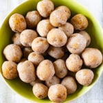 Creamy and tender cooked salt potatoes in a serving bowl.