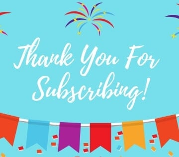 Thank you for subscribing to the Flour On My Face newsletter!