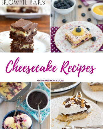 Collage photo of cheesecake recipes