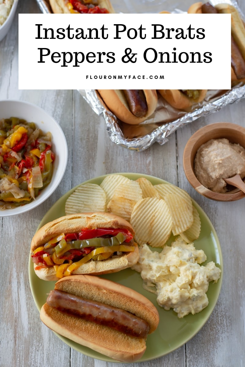 Instant Pot Brats and Peppers - Flour On My Face